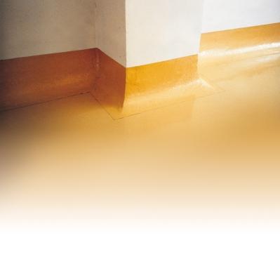 Paviment Monopur® Industry amb mitja canya sanitària perimetral amb cant rodó