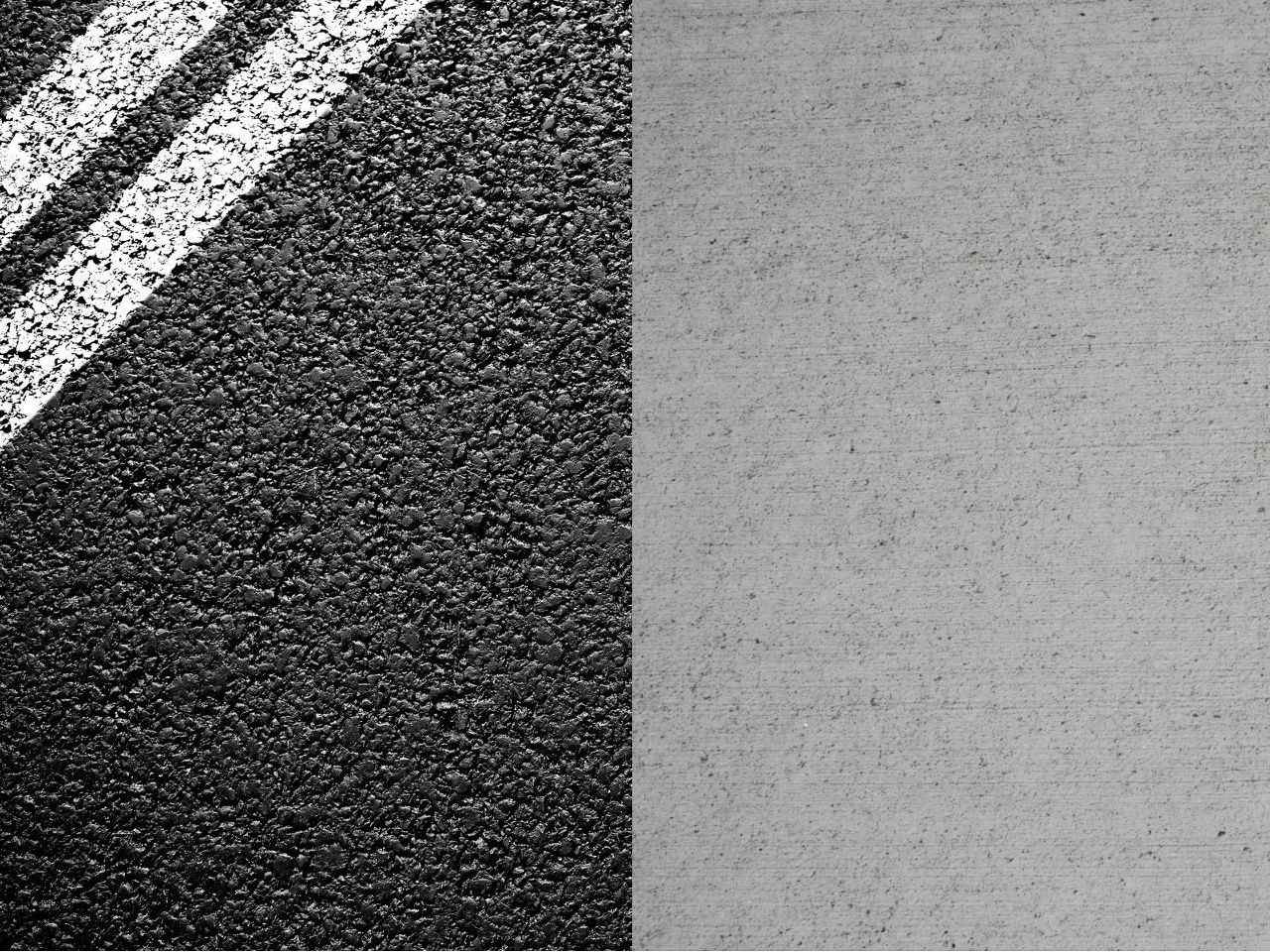 asfalt vs formigó